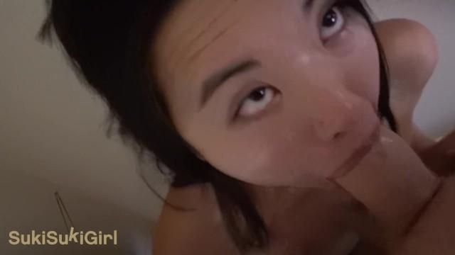WMAF asian doll gets THROATFUCK and CREAMPIE @sukisukigirl green eyes POV 7