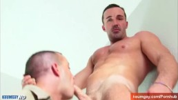 Mark real Str8 mature Maried neighbour serviced in a gay porn