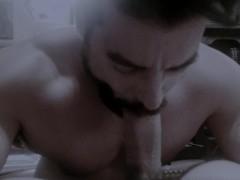 Bearded Muscle Sucking Big Uncut Cock - no cum (edited)