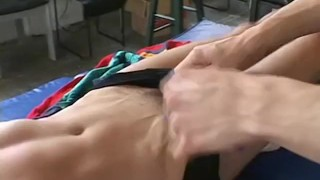 Hardly gay dude and lick and handles tickling bound toe cute toes fetish