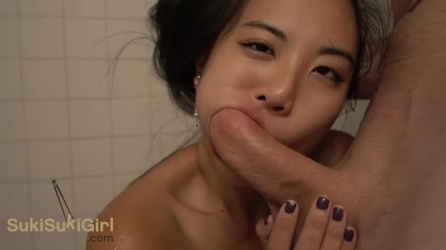 Usb stick or thumb drive - Brutal blowjob in the shower wmaf asian sucks dick while he drives stick