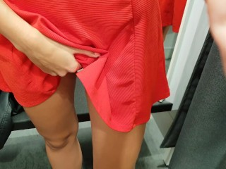 MASTURBATING IN A CHANGING ROOM!