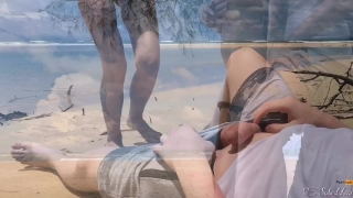 Island my public in on stein the freya cumming sex panties blowjob beach