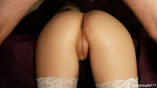 Cumfilled pussy squirting a fucking yo twice blowjob