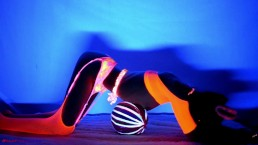 Neon Dream - Blacklight dance video SAMPLE - Video on ModelHub