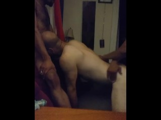 Big Dick Daddy and Hot Interracial Otter have a Fan over