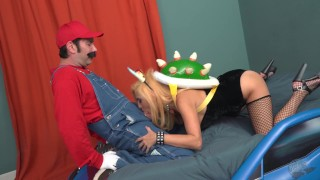 THE BOWSETTE PORN PARODY 3some brunette