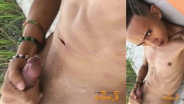 Asian Filipino Boy Masturbating in a Public Place