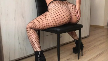 Sis Loves HUGE COCK in her Tight ASS - Fishnet ANAL HD