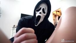 Carmen Valentina's Scream Halloween Porn Parody Scene
