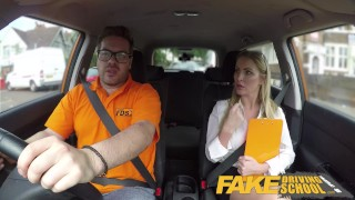 Fake Driving School Georgie Lyall Off Duty Sex Riding shaved