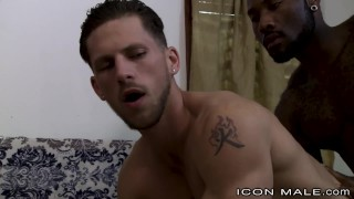 Black straight boyfriend his sisters iconmale dick hunk fucks brunette tattoo