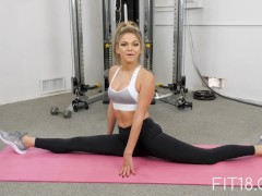 Fit18 - Athena Faris - 50kg - Flexible Teen Gets Creampied