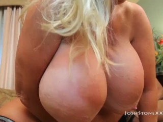 Big Tit Slut Kayla Kleevage Gets Slammed by 2 BBCS