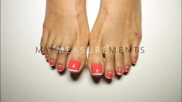 Loren Love's Measurements - Find Out My Toes and Toenail Lengths