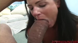India Summer cannot wait to get her lips around Zilla's big black cock Shaved blonde