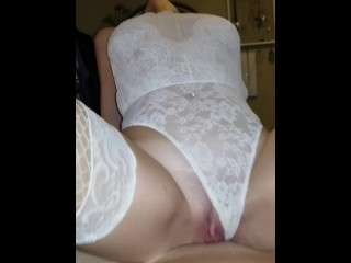 Sexy slut Squirts over & over again on my cock