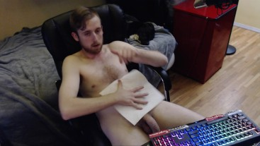 cleaning up sticky cum