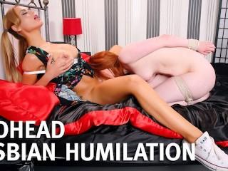 Cute redhead spanking fucking femdom...