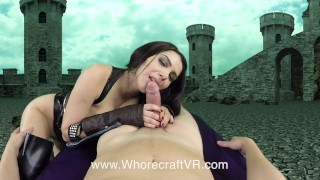 Whorecraft: Valentina Nappi plays a Death Knight choking on big cock