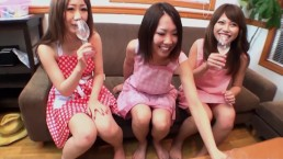 Having Fun With Three Japanese Girls!