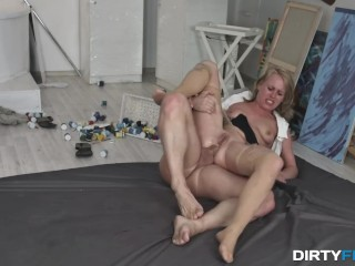 Dirty Flix - Anita - Office slut takes a rough fuck