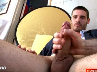 Str8 Maried neighbour serviced in a gay porn in spite of him