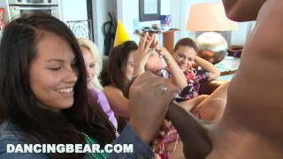 DANCING BEAR - This Bachelorette Loft Party Is Off The Muthafuckin' Chain! Glasses couple