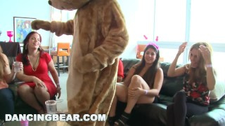 DANCING BEAR - This Bachelorette Loft Party Is Off The Muthafuckin' Chain! Brunette boobs