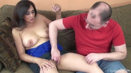 Big Titty Mature Brunette Takes A Pussy Pounding