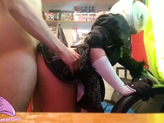 [Gamer-Girl] 2b Cosplay - Nice and slow Blowjob and Fuck