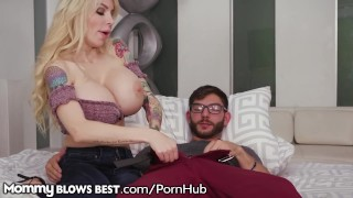 MommyBlowsBest HUGE TITS Mommy Loves Sucking Off Stepson!