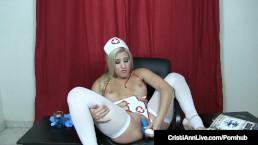 Hot Sperm Bank Nurse Cristi Ann Assists Your Cock!