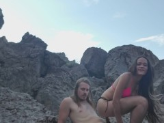 Tinder girl fucking high in the rocky mountains.