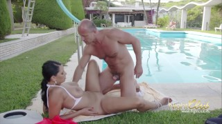 His little girl fuck sugardaddy style blowjob