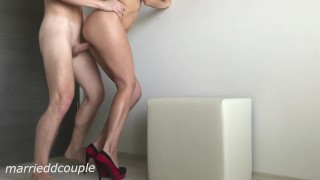 Hot Wife With Sexy Legs In High Heels Like To Fuck