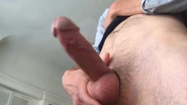 Cock ring with pearls Fat cock in cock ring explodes with cum