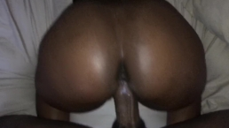 Ebony Girlfriend getting creamy backshots from big dick