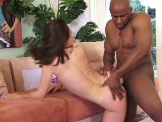 Bubble Butt Red Head Milf Takes on Big Black Cock