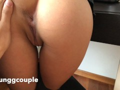 Amateur couple   Huge gapes and make her ass squirting hard.HD