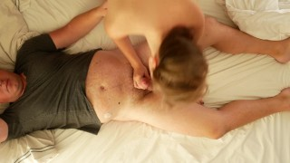 Cozy morning sex leads to hard riding porno