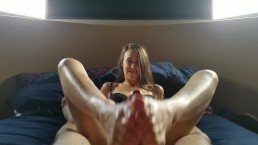 Footjob cumshot gets great reaction