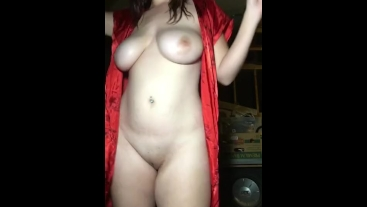 Hot Busty Teen Smoking & Stripping