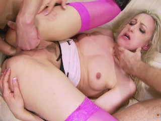 nikita - Ass hole inspection made by two hard cocks on skinny whore