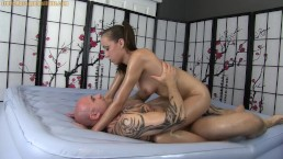 Oil Massage Handjob Blowjob 69 and Sex with Victoria