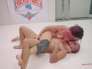 mixed wrestling strapon