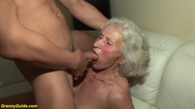 Grannies first monster cock movies - Granny in her first porn video