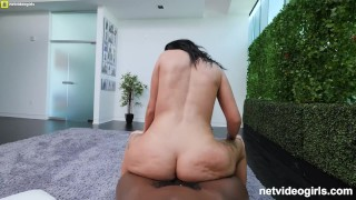 Black creampied gets white pawg facialed thick fucking and guys exotic blowjob
