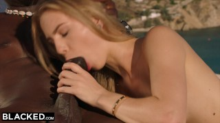 BLACKED Blonde tourist fucked in the ass by black local Licking pussy