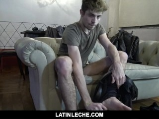 LatinLeche - Taxi driver sucks latin dick, fucked for cash